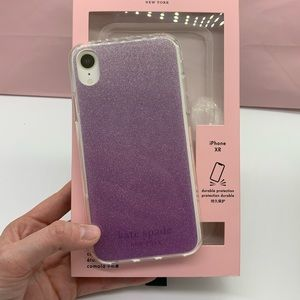 Kate Spade ♠️ Purple Sparkle iPhone XR Case NEW!